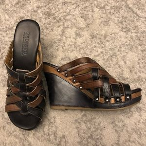 Bed Stu Gina Wedge Sandal • New Condition • Sz 7
